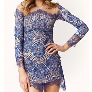 Blue lace dress. worn 2x, in great condition